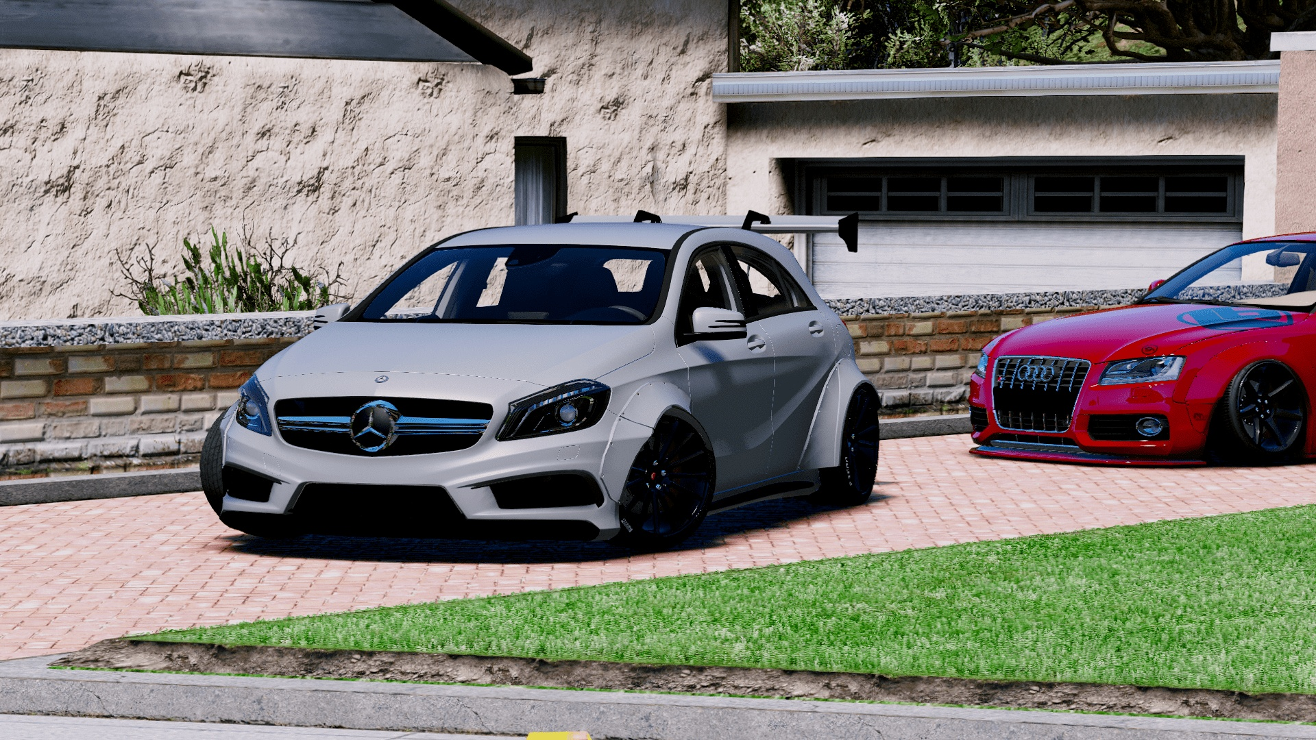mercedes benz a45 amg rocket bunny add on replace gta5 mods com