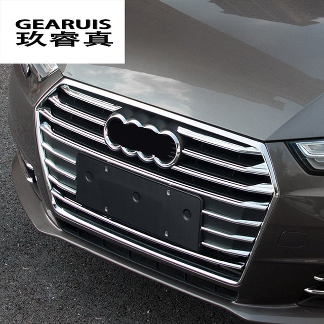 car styling front middle grill grids trim strips car styling bumper