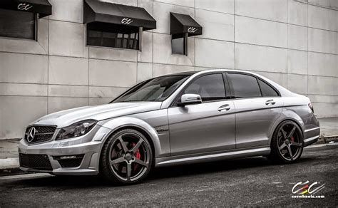 C63 Amg Modified Beautiful Mercedes Benz W204 C63 Amg with Cec C884 Wheels Benztuning Cars-1736-1736