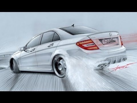 C63 Amg Modified Elegant Mercedes C63 Amg Drift Drawing by Adonis Alciciwith Copic My Dream-1736 Of Unique C63 Amg Modified