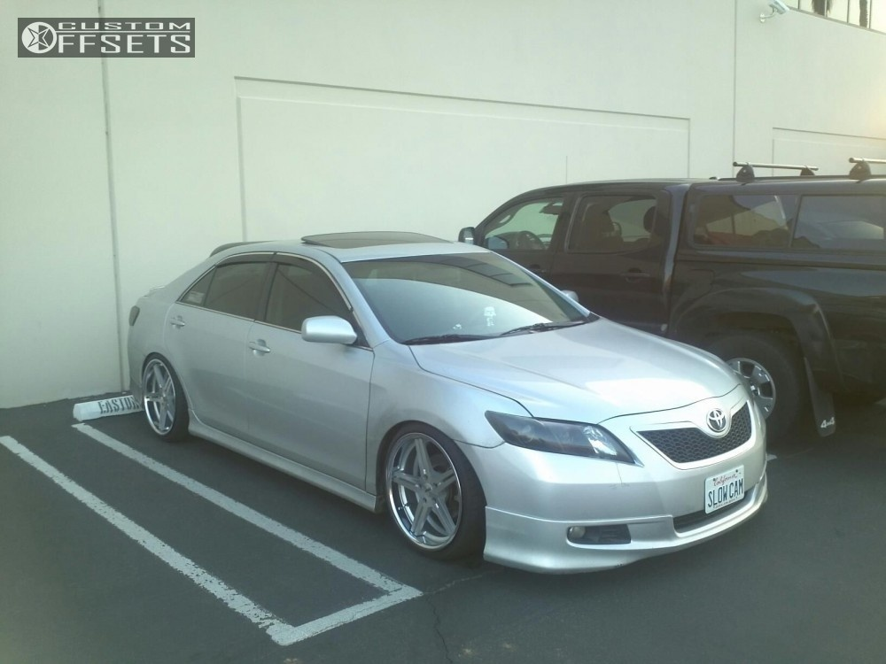 wheel offset 2007 toyota camry flush dropped 3 custom rims