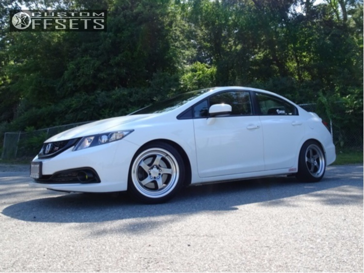 wheel offset 2014 honda civic poke lowering springs