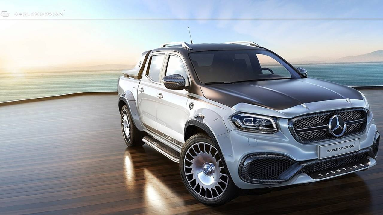 mercedes x class by carlex design is the maybach of pickup trucks