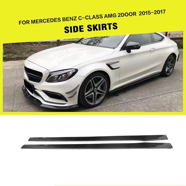 Mercedes C180 Modified Elegant Carbon Fiber Frp Auto Side Skirts Aprons Lip Extensions for-1632 Of Beautiful Mercedes C180 Modified-1632
