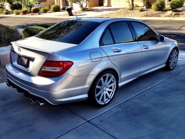 my new c250 sport with mods mbworld org forums