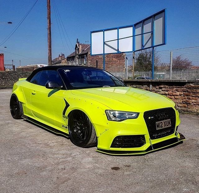 audi a5 s5 rs5 vert convertible modified widebodyflares