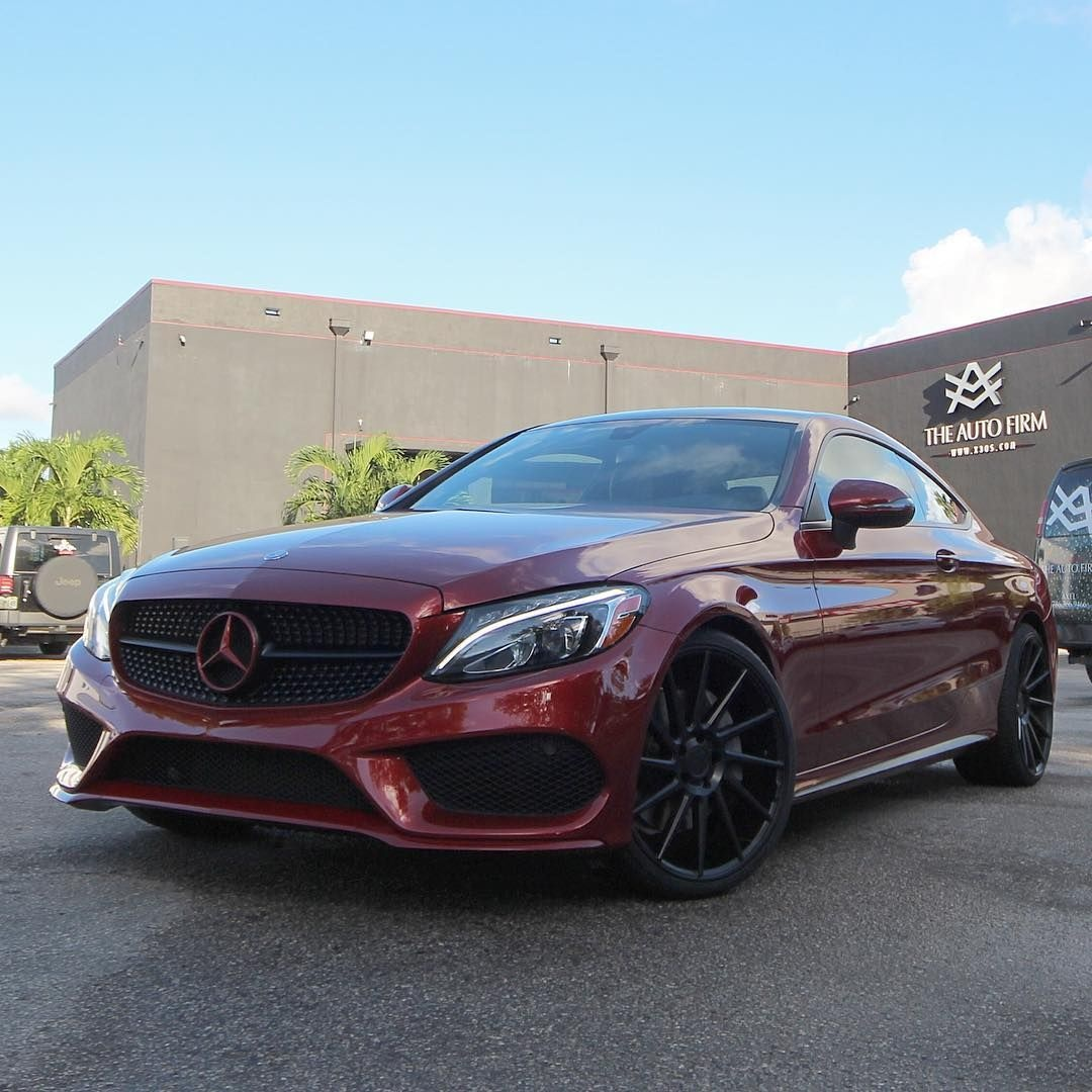 mercedes benz c300 coupe cardinal red metallic dream car
