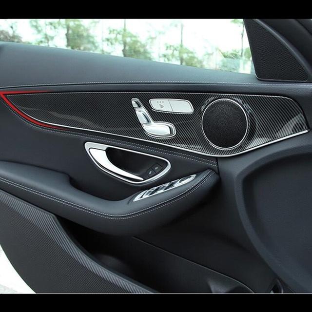 W205 Modified Elegant Carbon Fiber Style Car Door Panel Cover Trim 4pcs for Mercedes Benz-1723 Of Unique W205 Modified-1723